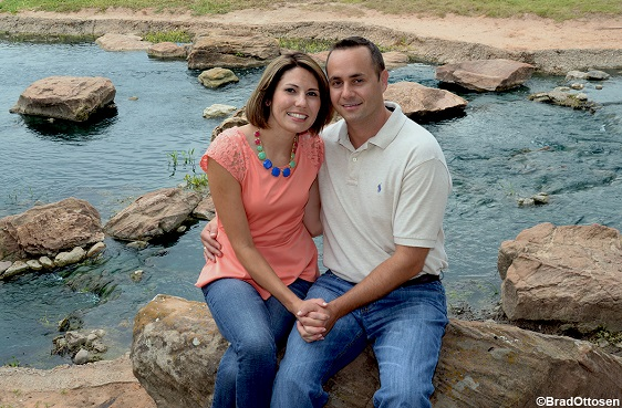 outdoor couples portrait in Sugar Land, Texas