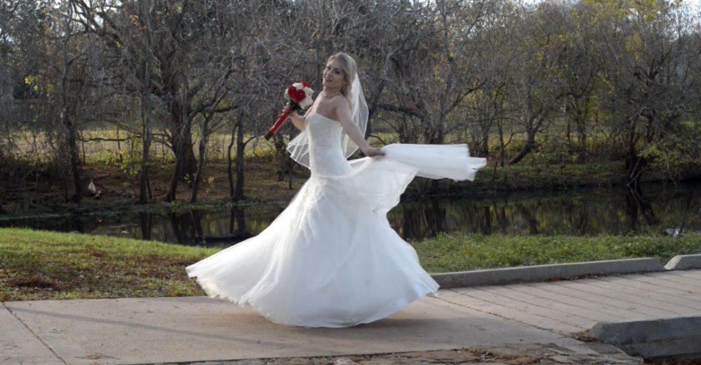Outdoor bridal portrait by Brad Ottosen