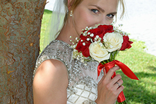 outdoor bridal portrait by Brad Ottosen