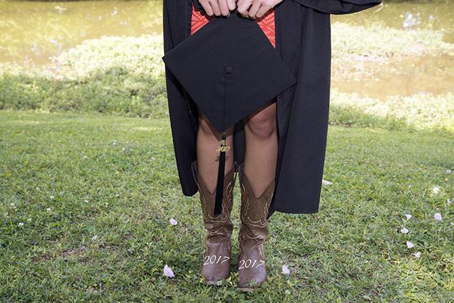 2017 HBU graduation portrait