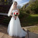 outdoor bridal portrait in Sugar Land Texas