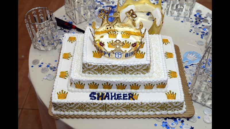 Shaheer's birthday cake